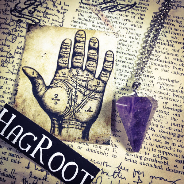 AMETHYST - Pendulum Necklace for Divination