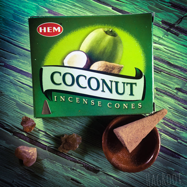 Coconut Incense Cones - 10 Cones