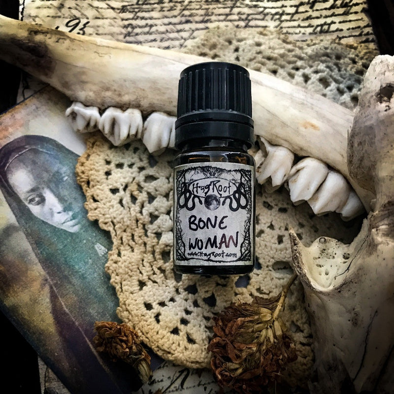 BONE WOMAN-(Cedar, Cinnamon, Oakmoss, Palo Santo, Vetiver, Amber)-Perfume, Cologne, Anointing, Ritual Oil
