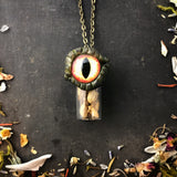 Reptilian Eye Necklace for Higher Consciousness