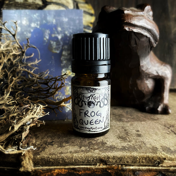 FROG QUEEN-(Water Lily, Vanilla, Cedar, Sandalwood, Champaka Flowers, Vetiver, Labdanum, Cypress)-Perfume, Cologne, Anointing, Ritual Oil