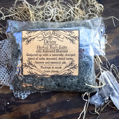 Detox-Herbal Bath Salts-Soaking Salts, Ritual, Ceremonial, Healing-(Seaweed, Essential Oils, Activated Charcoal)