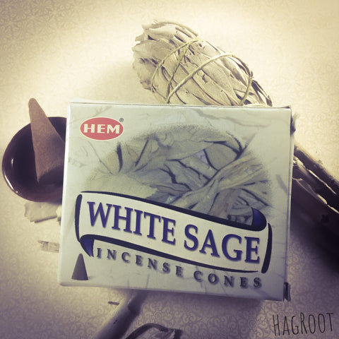 White Sage Incense Cones - 10 Cones