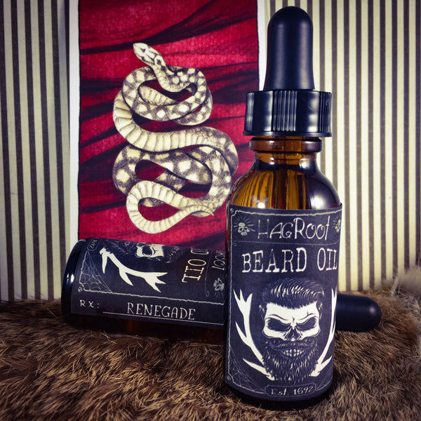 RENEGADE- Herbal Beard Oil and Conditioner - (Tobacco, Hay, Sandalwood, Cedar, Rum)