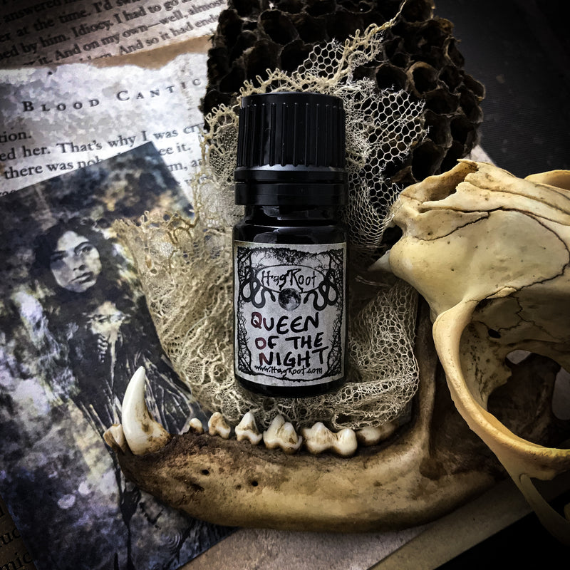 QUEEN OF THE NIGHT-(Dark Chocolate, Blood Orange, Frankincense Tears, Dark Spices, Forest)-Perfume, Cologne, Anointing, Ritual Oil