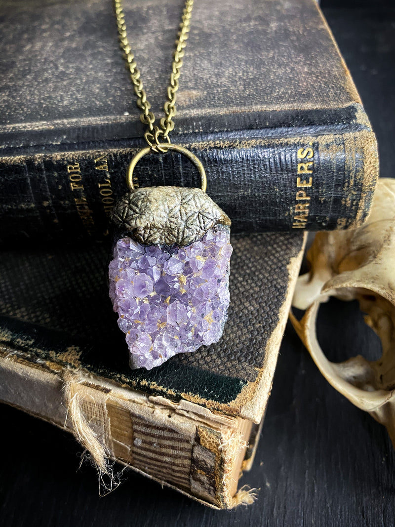 Flower of Life Necklace with Amethyst