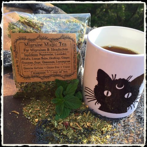 Migraine Magic Tea (Lavender, Ginger, Peppermint, Lemon Balm, Alfalfa, Skullcap, Sage, Cinnamon, Guayusa, Lemongrass)