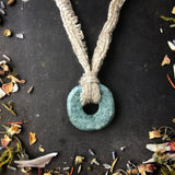 Activated Shamanic Pi Stone Necklace for the 8th Chakra to Connect to Your Higher Self
