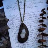 Driftwood Necklace with Citrine + the Flower of Life