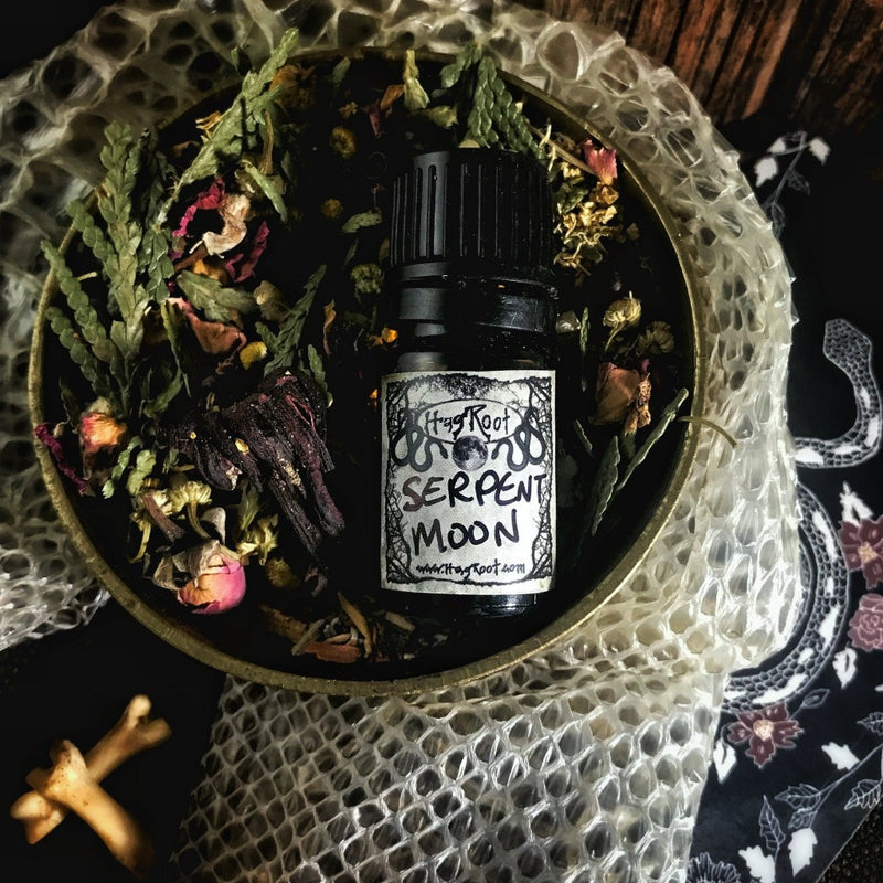 SERPENT MOON-(Vanilla, Rose, Leather, Tea Leaves, Tobacco, Ginger, Bergamot, Tonka Bean, Musk, Patchouli)-Perfume, Cologne, Anointing, Ritual Oil