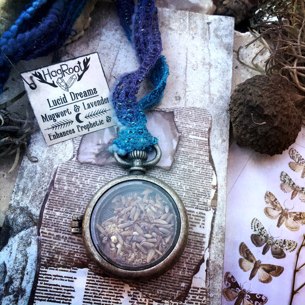 Necklace for Lucid Dreaming, Divination and Prophetic Visions with Mugwort and Lavender