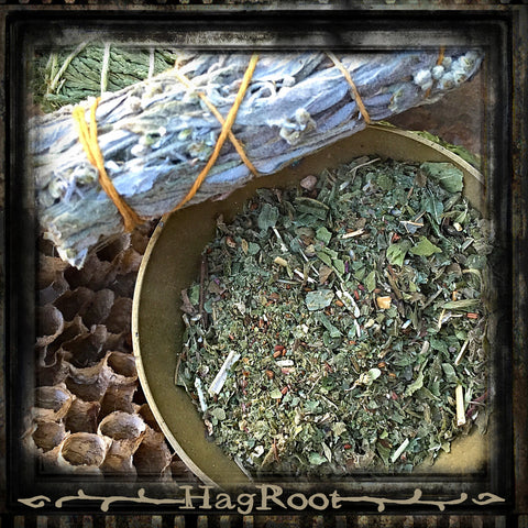 CALM SPIRIT-Sacred Herbal Smoking Blend-(Blackberry Leaf, Raspberry Leaf, Wormwood, Patchouli, Holy Basil Vana, Lavender Buds)