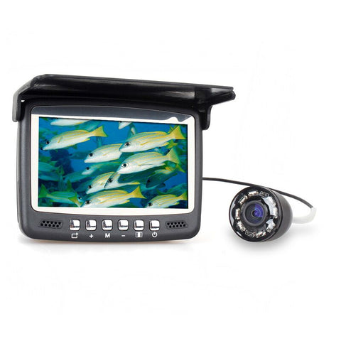 "49 Foot Fish Finder Camera with 4.3"" LCD Monitor and 8 LED Night Vision Portable and Great for Ice Fishing!"