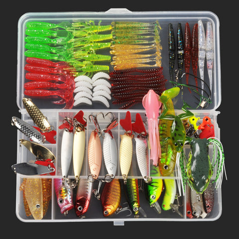8 Styles and Colors Tackle Box Lure Variety Kits. Great Deal!