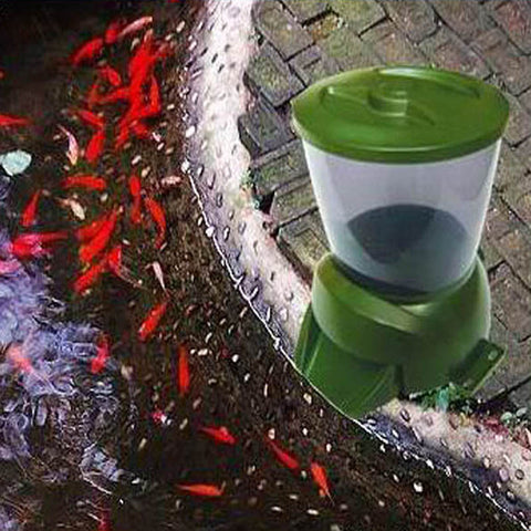 1 Gallon Automatic Fish Feeder with Programmable Timer from 1 to 90 days