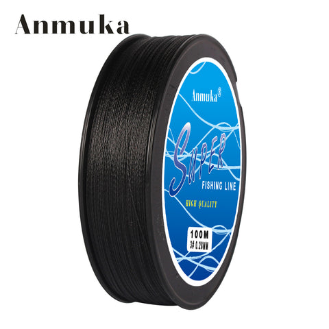 Anmuka Breided 4 Stand 328' Feet 10-80LB. Super Strong Japanese Multifilament Line.