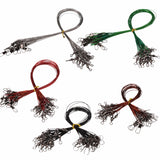 "100pcs 5Colors Steel Leaders with Swivels. 5"", 6"", 9"", 10"" Sizes"
