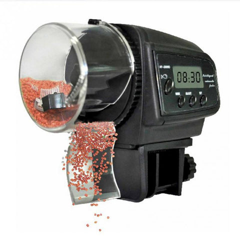 Automatic Fish Fry & Fingerling Feeder with Digital LCD Screen & Programmable Timer