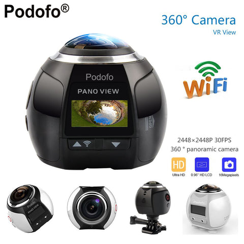 360 Degrees HD Ultra Mini Panoramic Fish Eye Sports Driving VR Action Video Waterproof 30 m deep Camera