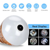 HD Panoramic Infrared and White Light Wireless IP Camera Bulb
