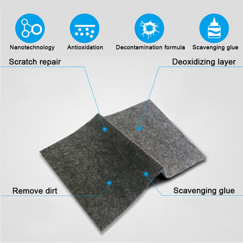 Nano Technology light paint scratch remover cloth Surface Rags For cars automobiles accessories