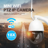4X 18X Zoom Wireless PTZ Speed Dome 1080P IP Camera WIFI Outdoor CCTV Video Network IP PTZ Cam Audio Talk With Speaker SD Card