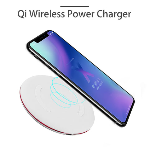 Portable Qi Wireless Power Charger Fast Charging with Charging Pad