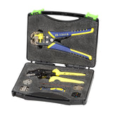 Professional Wire Crimpers Engineering Ratcheting Terminal Crimping Pliers Wire Strippers Crimpeing Tool +Cord End Terminals Kit