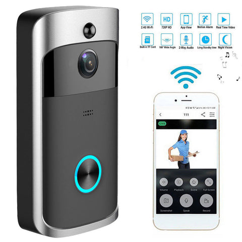 Smart WiFi Spy Security Visual Recording Night Vision cam Doorbell