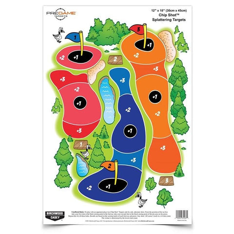 BIRCHWOOD CASEY PREGAME 12INx18IN Chip Shot -8 Sheets - SKU: BW35566, Amazon, birchwood-casey, ebay, paper-targets, Shooting-Gear, Targets-Target-Holders, under-50