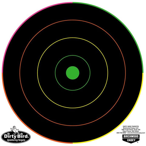 BIRCHWOOD CASEY DirtyBird MultiColour 8IN- 20 Sheets - SKU: BW35820, Amazon, birchwood-casey, ebay, paper-targets, Shooting-Gear, Targets-Target-Holders, under-50