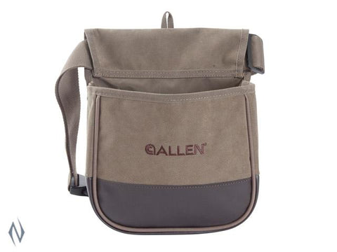 ALLEN SELECT CANVAS DOUBLE SHOTSHELL BAG WITH BELT - SKU: AL2306, 50-100, allen, ammunition-carriers, ebay, Shooting-Gear