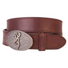 Browning Oval Buckmark Belt Brown - Size 44 - SKU: BBE101012.44, 50-100, Amazon, Apparel, belts, browning, ebay, size-44