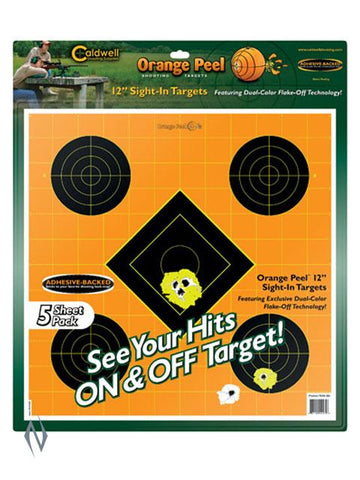 CALDWELL ORANGE PEEL SIGHT IN 12 INCH 5 PACK - SKU: CALD-OPSI2, caldwell, Caldwell Amazon, ebay, paper-targets, Shooting-Gear, Targets-Target-Holders, under-50