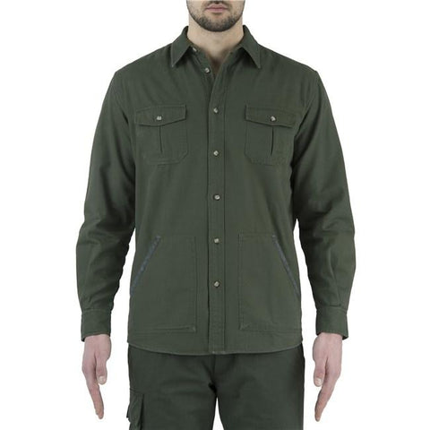 Flannel Overshirt Green&Beige S - SKU: LUA5-7566-0716/S - Size: Small, 100-200, Amazon, Apparel, beretta, ebay, shirts, size-small