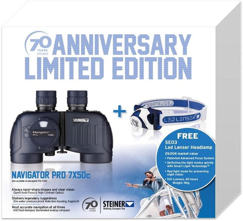 STEINER Navigator Pro 7x50 wc+LedlenserSEO3 - SKU: STN7155-Bundle, 500-1000, Amazon, binoculars, ebay, Optics, steiner