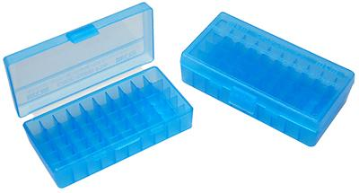 MTM - 50 RD HINGED TOP AMMO BOX 9MM3 - SKU: P50-9M-24, ammo-boxes, ebay, mtm, Reloading-Supplies, under-50