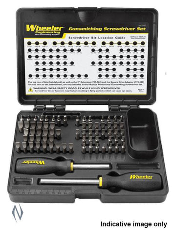 WHEELER SCREWDRIVER SET BASIC GUNSMITHING 72 PCE - SKU: WH-DGSSB, 100-200, ebay, Gunsmithing-Supplies, gunsmithing-tools, wheeler