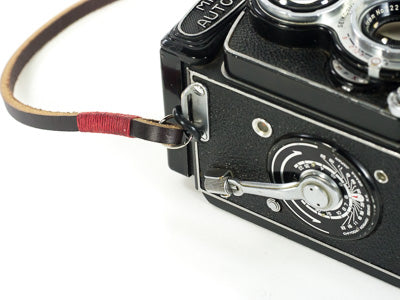 minolta autocord leather neck strap