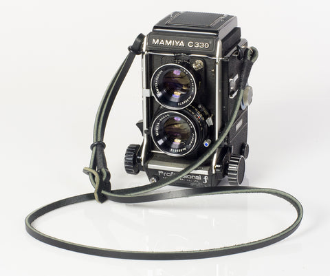 Mamiya C330 Adjustable leather neck strap.