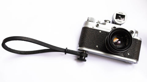 Zorki-S camera with gordy's camera strap