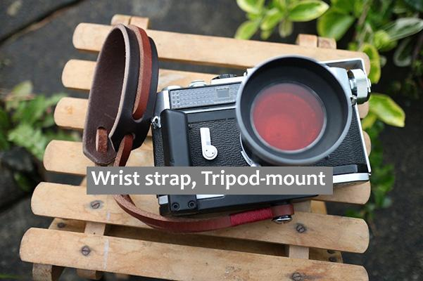 Leather camera Wrist strap, Tripod-mount