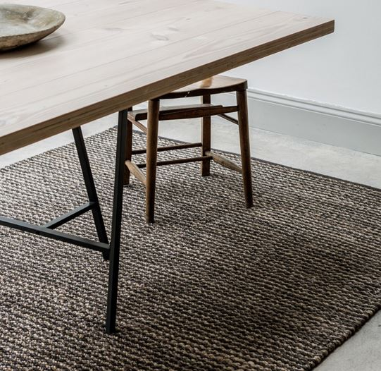 Armadillo&Co Kalahari Weave Pewter and Charcoal Rug