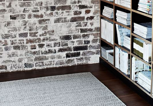 Armadillo&Co Herringbone Weave Limestone and Charcoal Rug