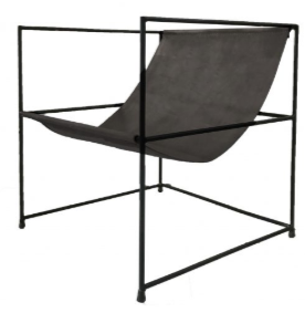 Line Chair - Black leather