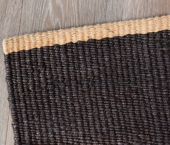 Armadillo&Co - Nest Hemp Weave Charcoal with Natural Turnover Mat