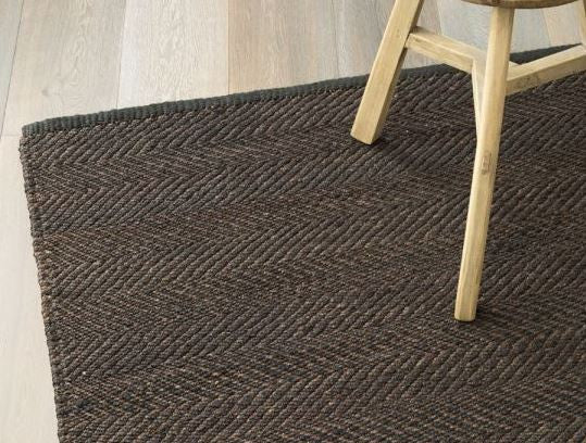 Armadillo&Co Serengeti Hemp Weave Charcoal and Shale Rug