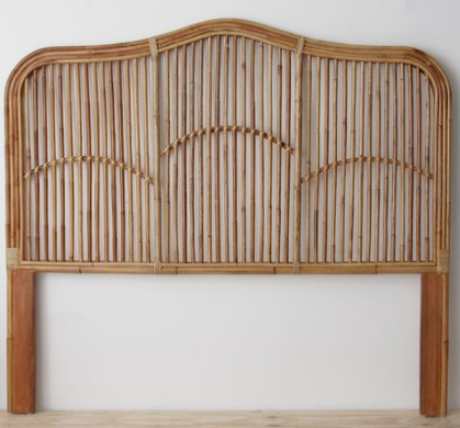 Stella Rattan Bed head - Walnut
