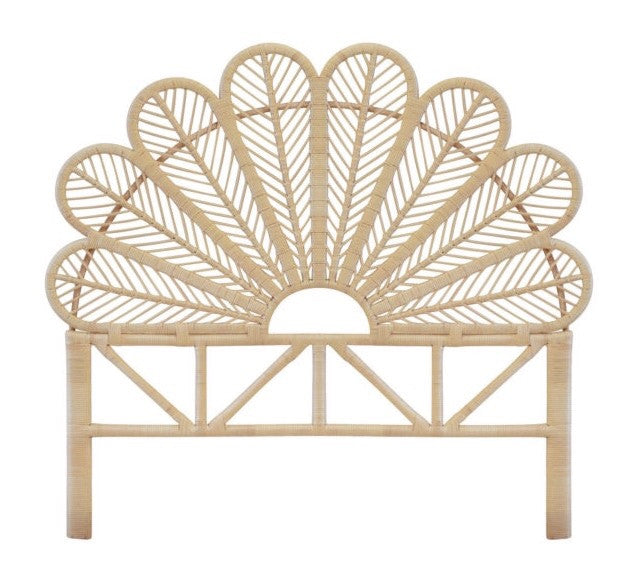 Flower Rattan Bed head - Natural