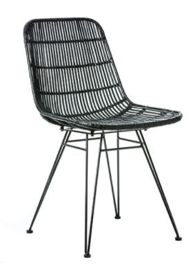 Rattan Dining Chair - Black
